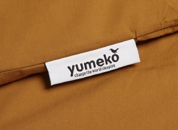 Yumeko dekbedovertrek perkal 300TC ochre yellow