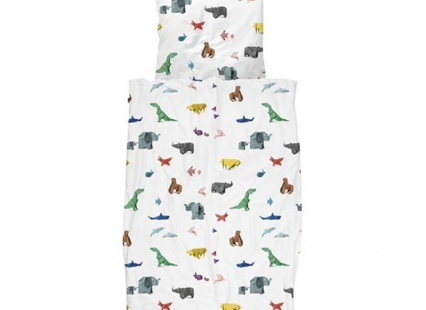 Snurk dekbedovertrek Paper Zoo