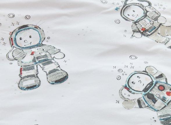 Beddinghouse dekbedovertrek Astronaut grey