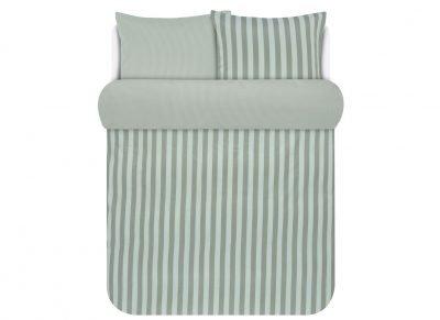 Marc O'Polo dekbedovertrek Classic Stripe soft olive