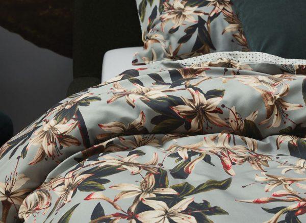 Essenza Home dekbedovertrek Lily dusty green