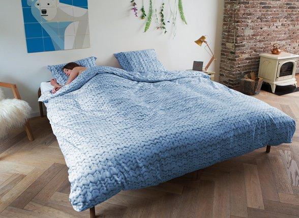 Snurk dekbedovertrek Twirre blauw