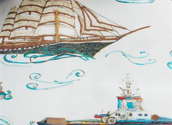Beddinghouse dekbedovertrek Ships blue