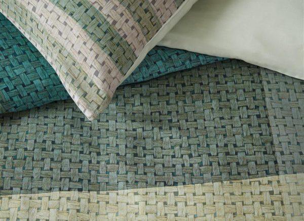 Beddinghouse dekbedovertrek Raffia green