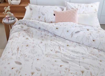 Beddinghouse dekbedovertrek Nostalgic white