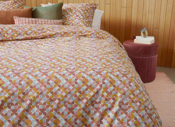Beddinghouse dekbedovertrek Retro Grid red