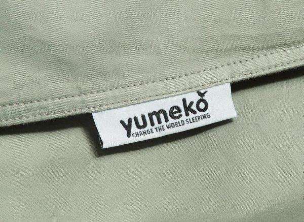 Yumeko dekbedovertrek washed katoen satijn green
