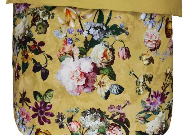 Essenza Home dekbedovertrek Fleur golden yellow