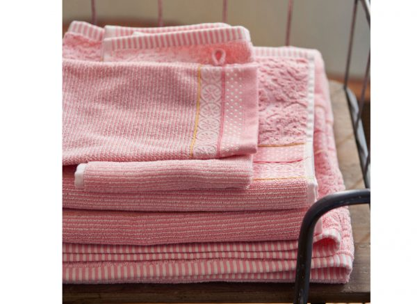 Pip Studio badgoed Soft Zellige roze