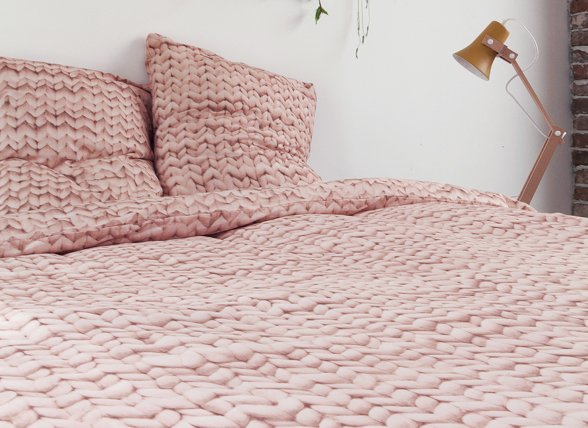Super Snurk dekbedovertrek flanel Twirre dusty roze - Morpheus Beddengoed @WK17