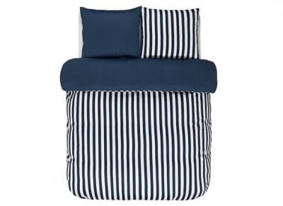 Marc O'Polo dekbedovertrek Classic Stripe indigo blue