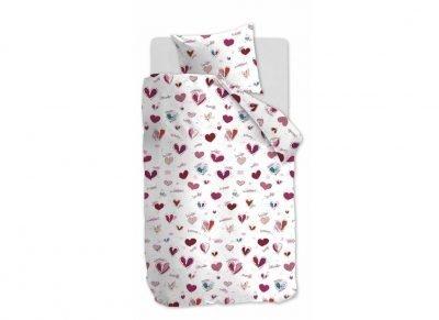 Beddinghouse dekbedovertrek Sweet Love roze