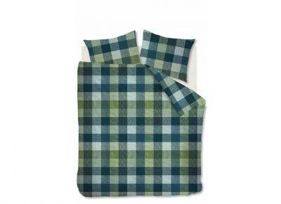 Beddinghouse dekbedovertrek flanel Beckett green