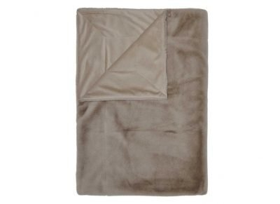 Essenza Home plaid Furry taupe