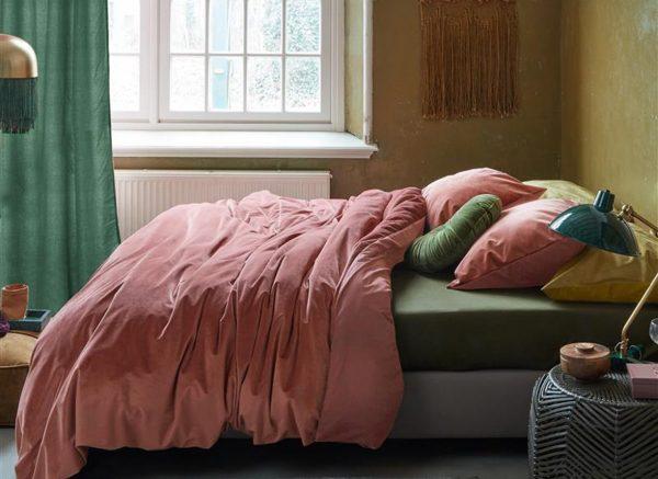 At Home dekbedovertrek Tender dark pink