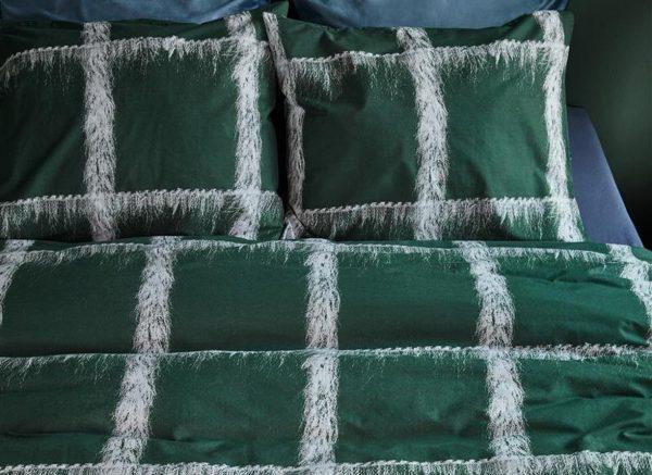 At Home dekbedovertrek Traditional green