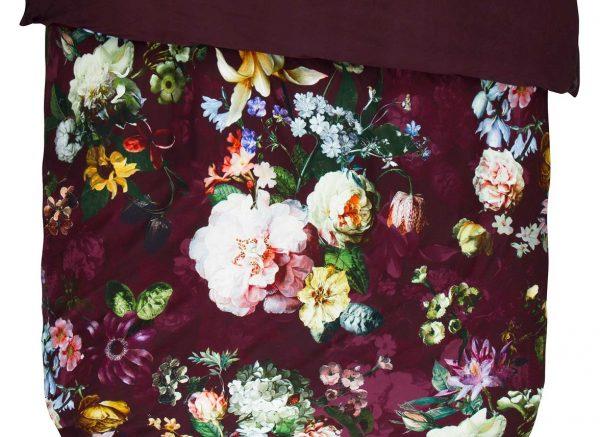 Essenza Home dekbedovertrek Fleur burgundy