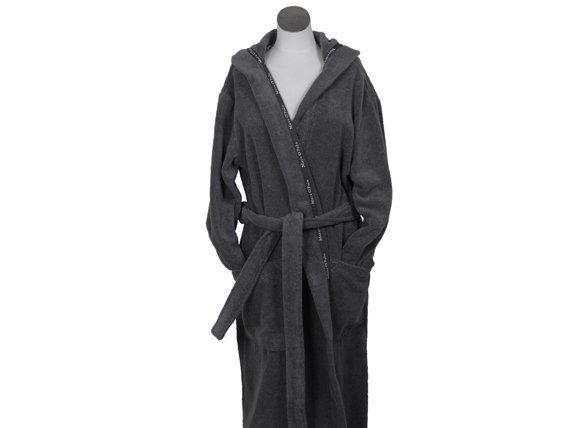 Marc O`Polo badjas Classic Hood antraciet