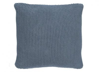 Marc O'Polo sierkussen Nordic Knit smoke blue 50x50