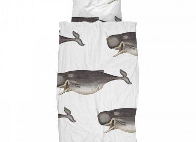 Snurk dekbedovertrek Whale