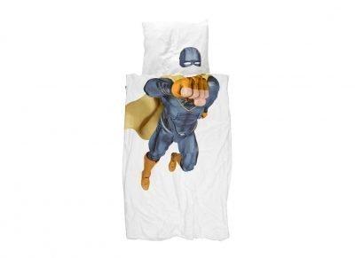 Snurk dekbedovertrek Super Hero blue