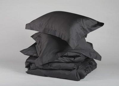 Yumeko dekbedovertrek satijn dark antracite