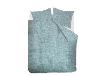 Beddinghouse dekbedovertrek flanel Frost blue