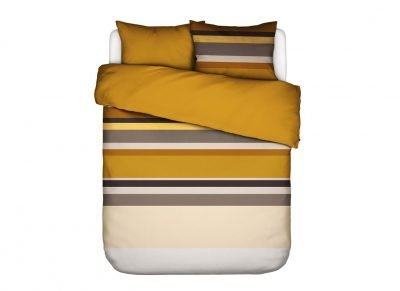 Essenza Home dekbedovertrek Edith mustard