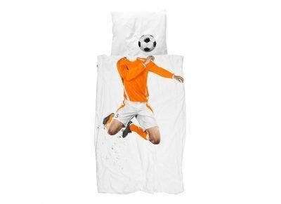 Snurk dekbedovertrek Soccer Champ oranje