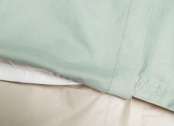 Yumeko dekbedovertrek satijn double face sandy/green