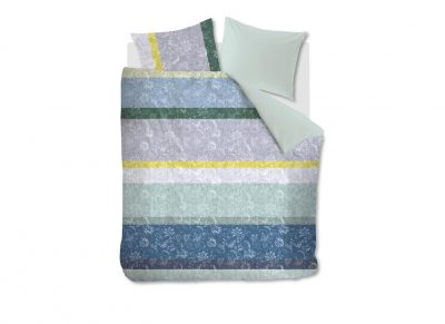 Oilily dekbedovertrek Blooming Stripe blue