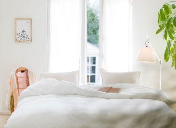 Yumeko dekbedovertrek  washed linen pure white