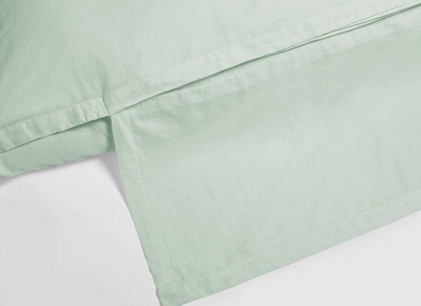 Yumeko dekbedovertrek washed katoen satijn mineral green