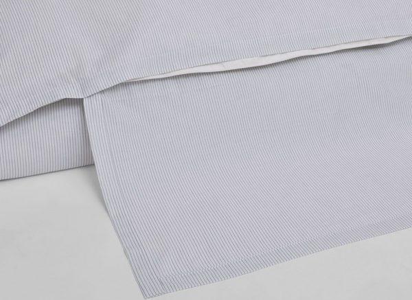 Yumeko dekbedovertrek katoen Tencel white stripe