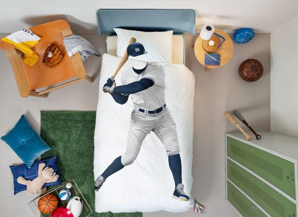 Snurk dekbedovertrek Baseball Player