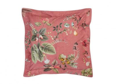 Pip Studio sierkussen Fall in Leaf pink 45x45