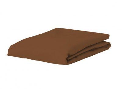 Essenza Home hoeslaken katoen satijn, leather brown