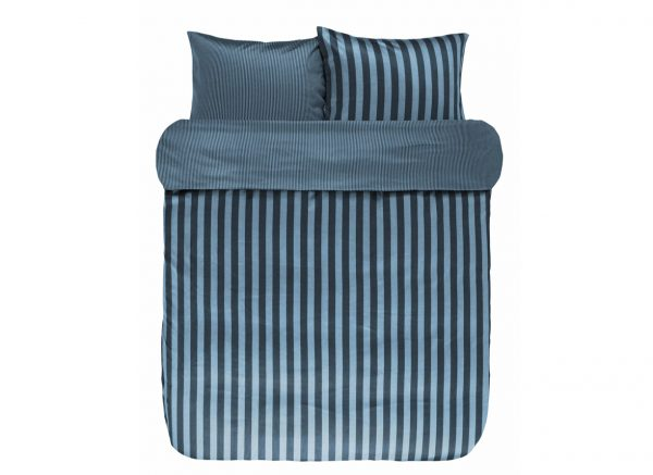 Marc O'Polo dekbedovertrek Classic Stripe deep blue