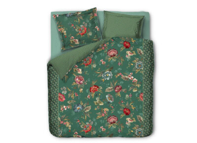 Pip Studio dekbedovertrek Poppy Stitch green