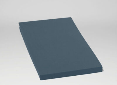 Yumeko hoeslaken katoen perkal blue