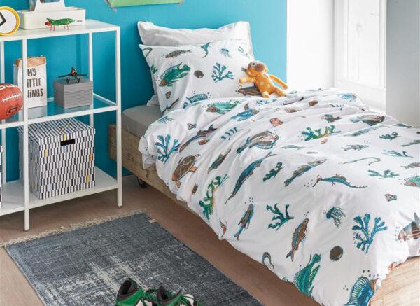 Beddinghouse Kids dekbedovertrek Deep in the Sea blauw