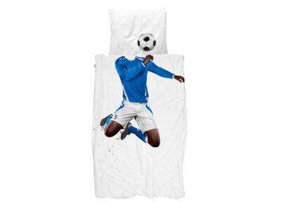 Snurk dekbedovertrek Soccer Champ dark blauw